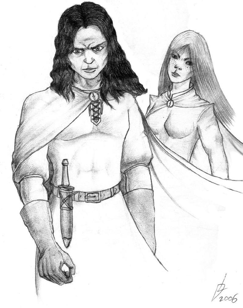 Blackblades: Dar and Biphanya by Nazgi