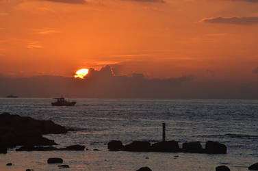 Sunrise from Heping Island