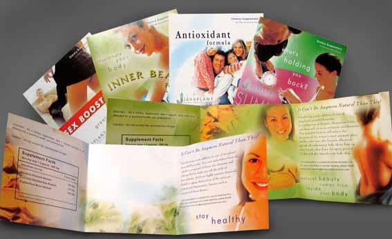 Javaplant's sampling brochures