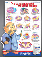 BSN Washing Hand Poster by m4pple
