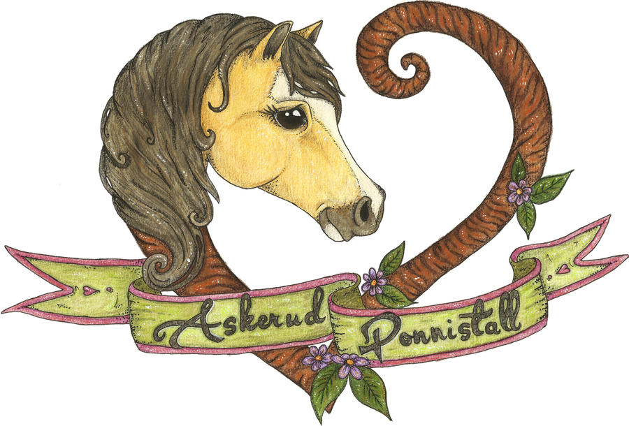 Askerud Ponnistall (Pony stable) Logo by WhimsicalWitch