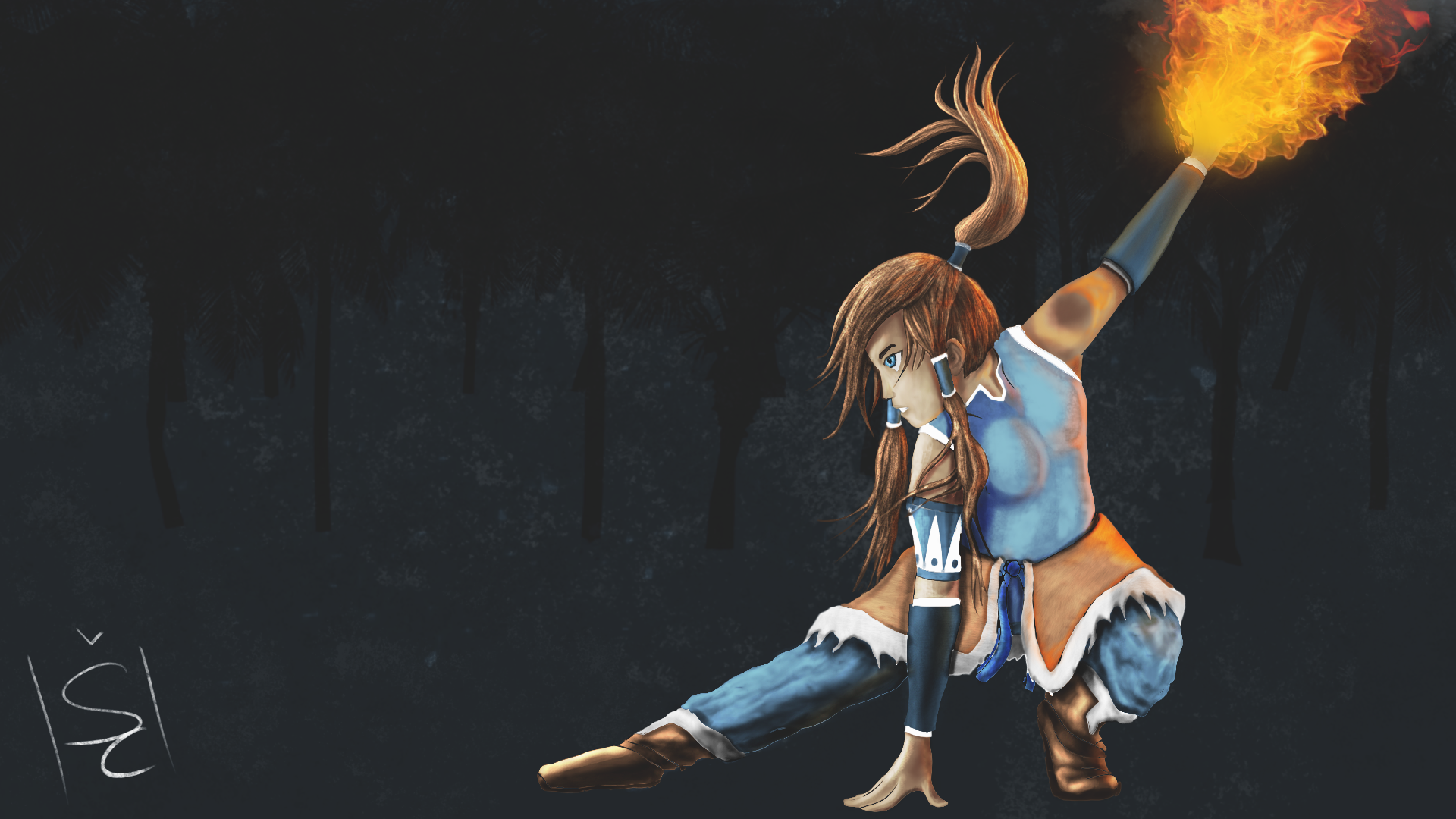 Korra Painting - The Legend of Korra by GenuineOwl