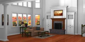 Living Room - Blender 3d Model