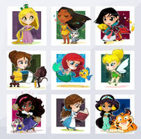 Chibi Disney Girls