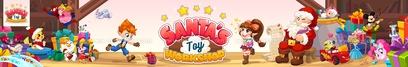 Santa's Toy Workshop by Malycia