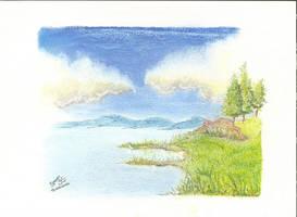 Paisagem pastel     Pastel landscape by GregoryFerreira