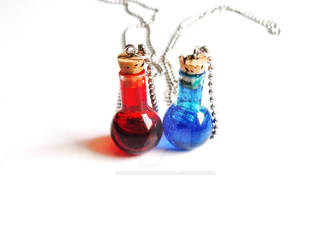 Red and Blue Potions by rainbowdarknesstudio