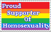 Proud Supporter Of Homosexuality Stamp by Corey-Harmonia