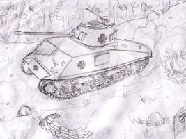 PanzerKampfWagen IV Sketch by XaliberDeathlock