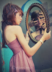 the monster in the mirror. by Pretty-As-A-Picture
