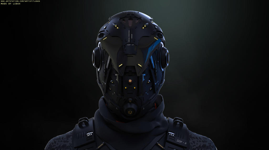 Cyber Soldier by LuboxArt