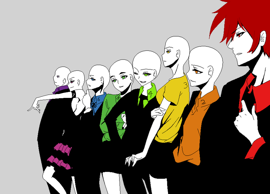 Anime Base Chibi Group Traffic Club