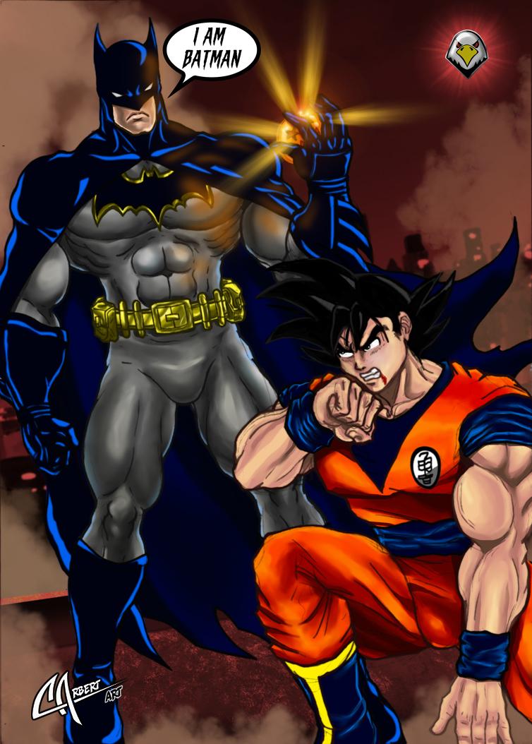 Batman vs Goku by CarbertArtwork on DeviantArt
