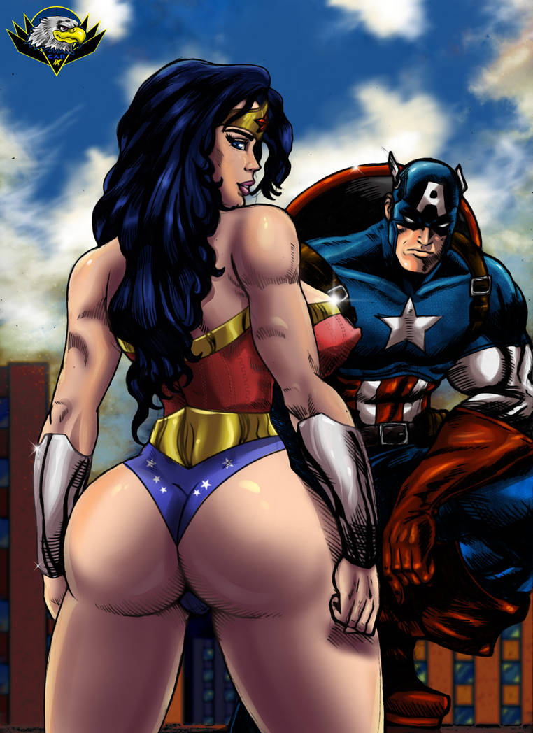 Wonder Woman and Captain America