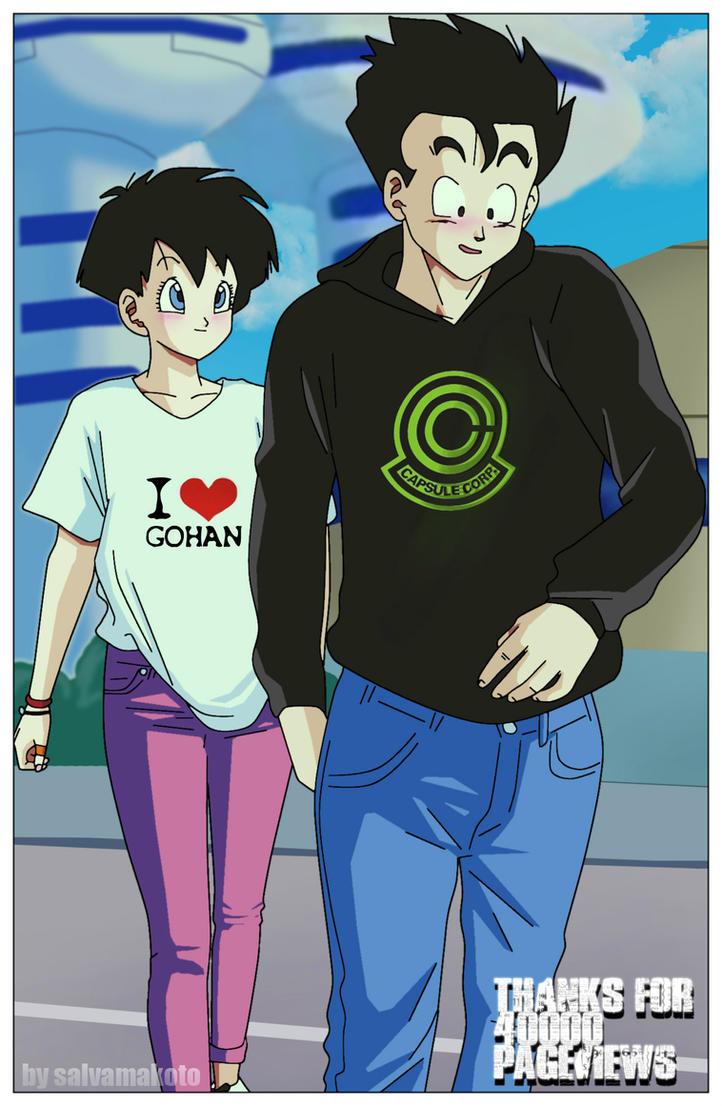 Gohan and videl by salvamakoto on deviantart - Gohan dragonball gt ...