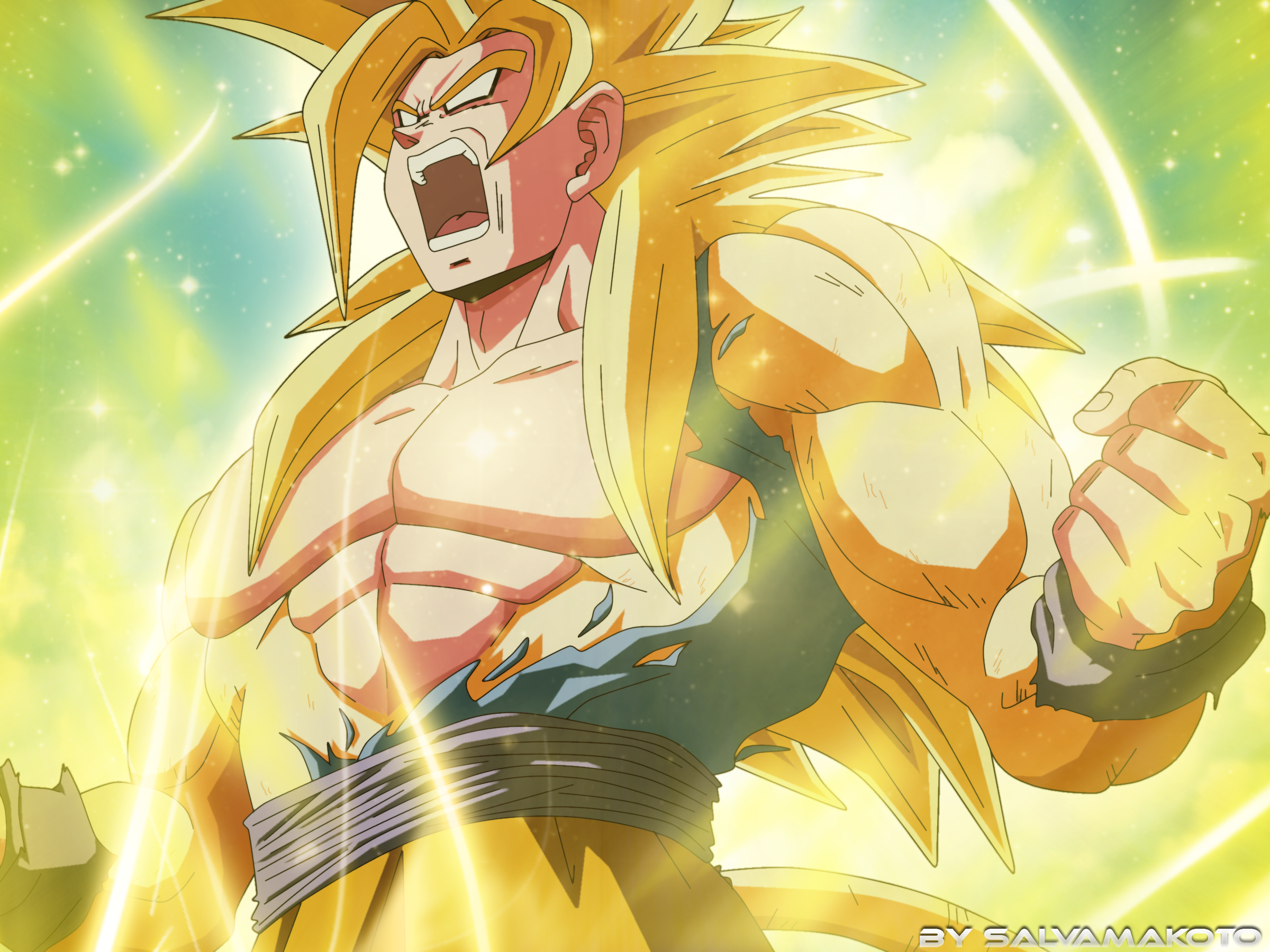 Goku new super saiyan by salvamakoto on deviantart - Goku vs vegeta super saiyan 5 ...