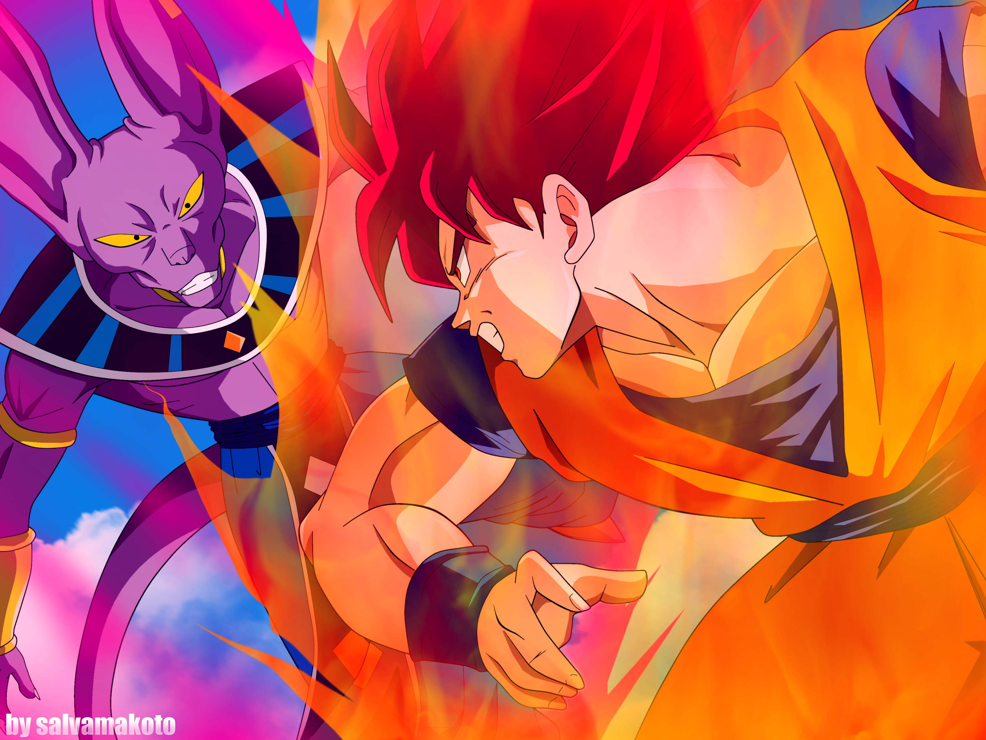 bills vs ssjgod by salvamakotoBills Vs Goku Gif