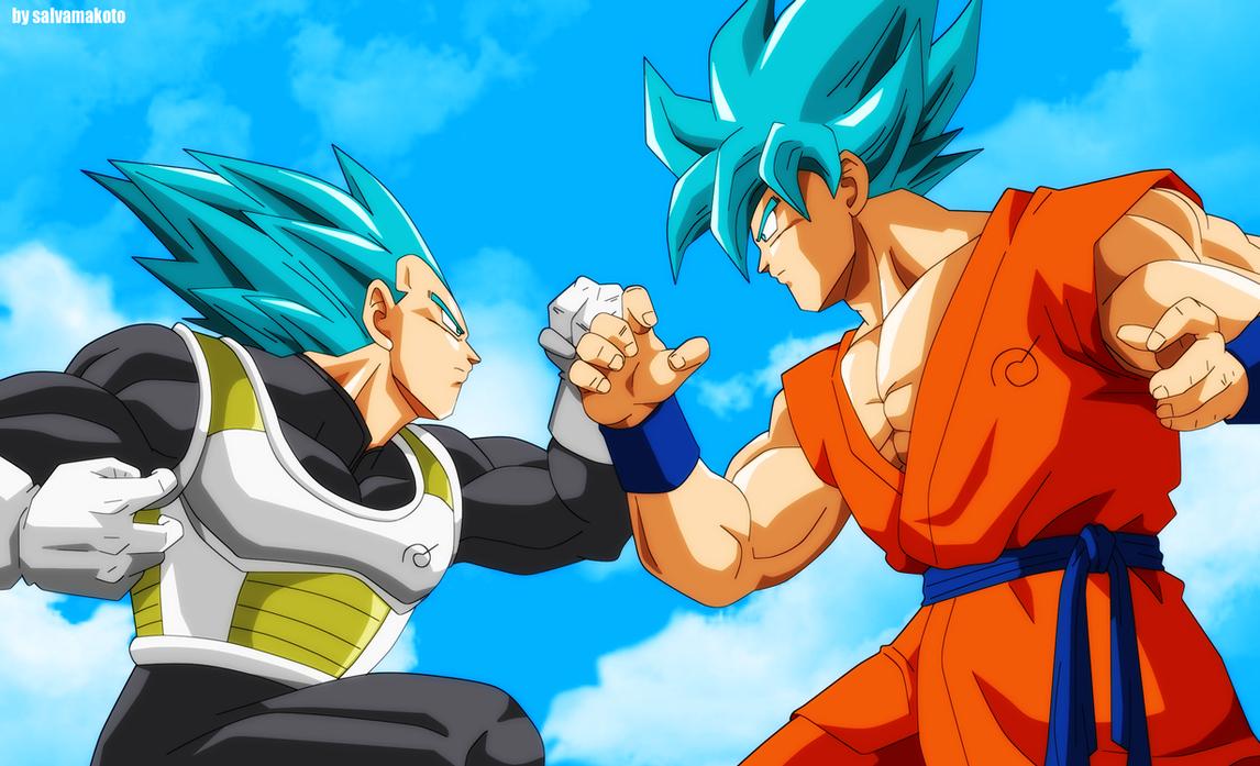 Vegeta Y Goku 2015 by salvamakoto
