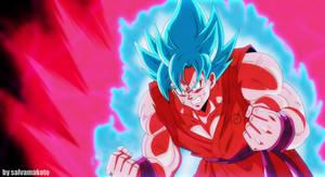 Goku Ssjblue Kaioken by salvamakoto