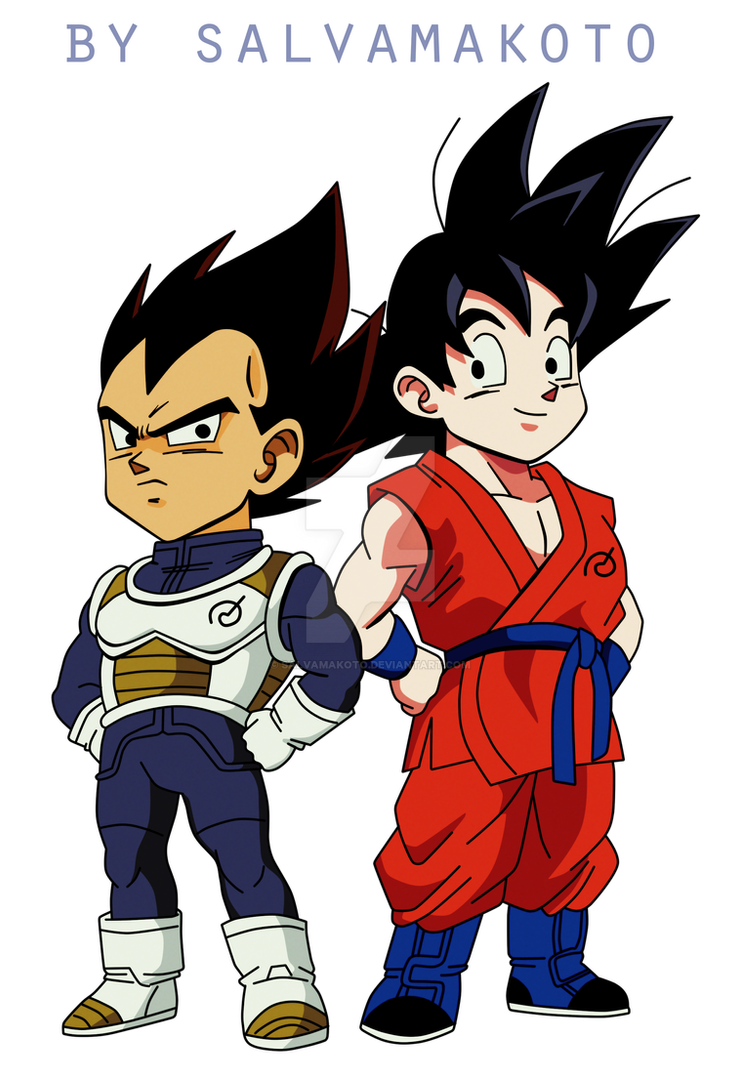 vegeta and goku by salvamakoto on deviantart