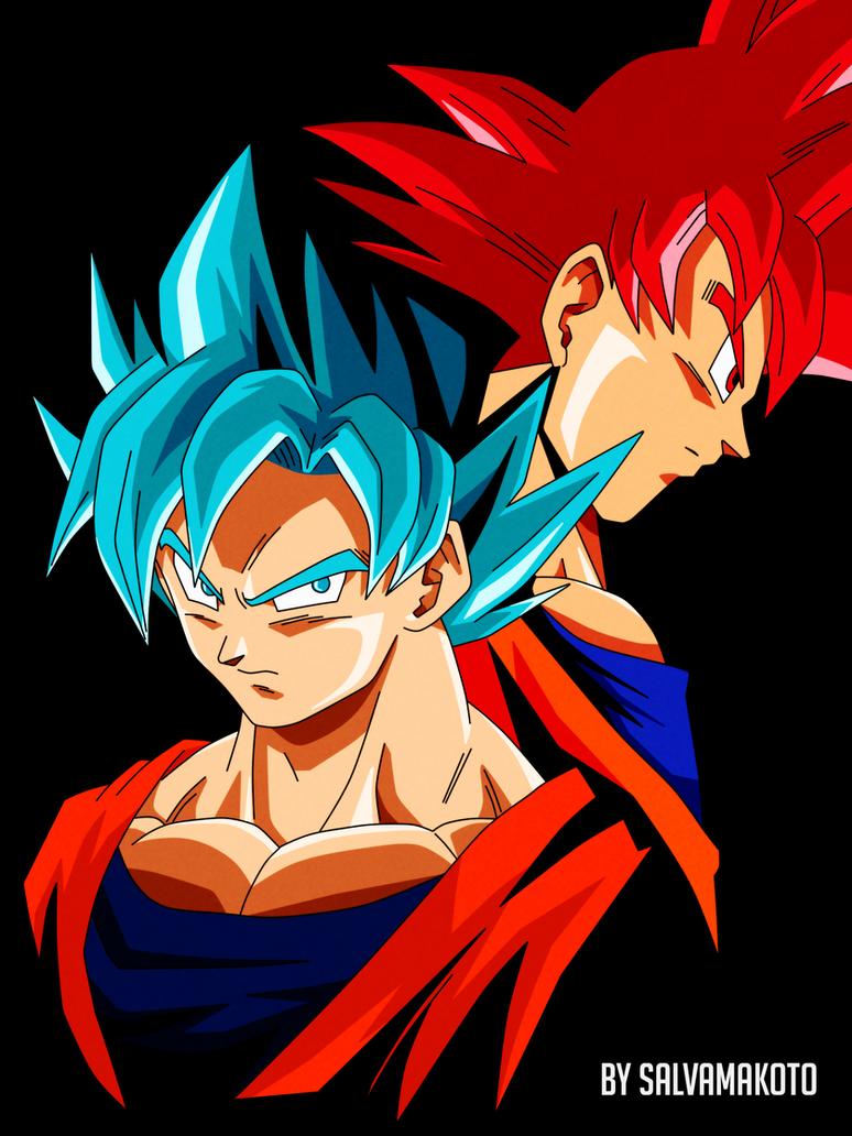 Goku fases Dios by salvamakoto on DeviantArt