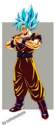 Son Goku super saiyan Blue by salvamakoto