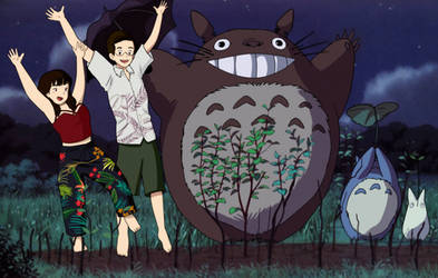 Commission 163 - totoro and friends