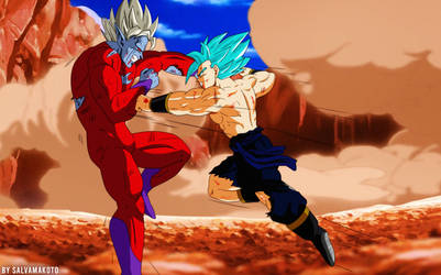 Commission 175 - Super Mira Vs Korian Ssj Blue