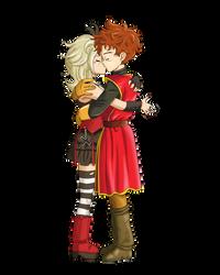 Commission 179 - Dragon Quest kiss