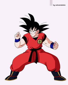 Son goku fight pose