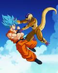 Goku ssj blue vs Golden Freezer