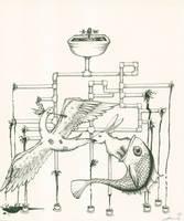 The Patchwork Crane by LaurenNatvigGray