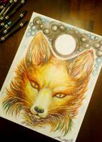 Crayon Fox by LaurenNatvigGray