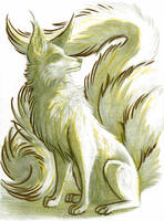 Primarily-Pencil Sketchbook #1 - Sitting Fox by LaurenNatvigGray