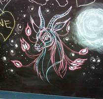 Doodle - Fantasy Gazelle Thing by LaurenNatvigGray