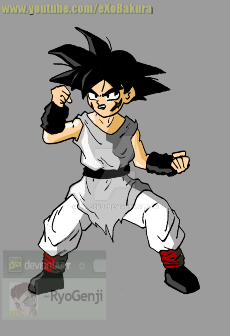 Kid Bardock, what if character (color) by RyoGenji on ...