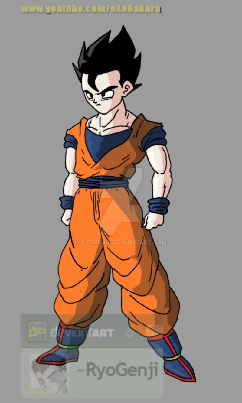 Mystic Gohan (color) by RyoGenji