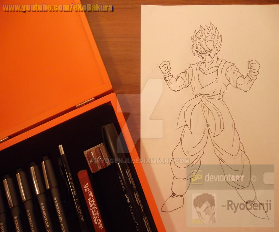 Trying out the new materials, SSJ Future Gohan by RyoGenji