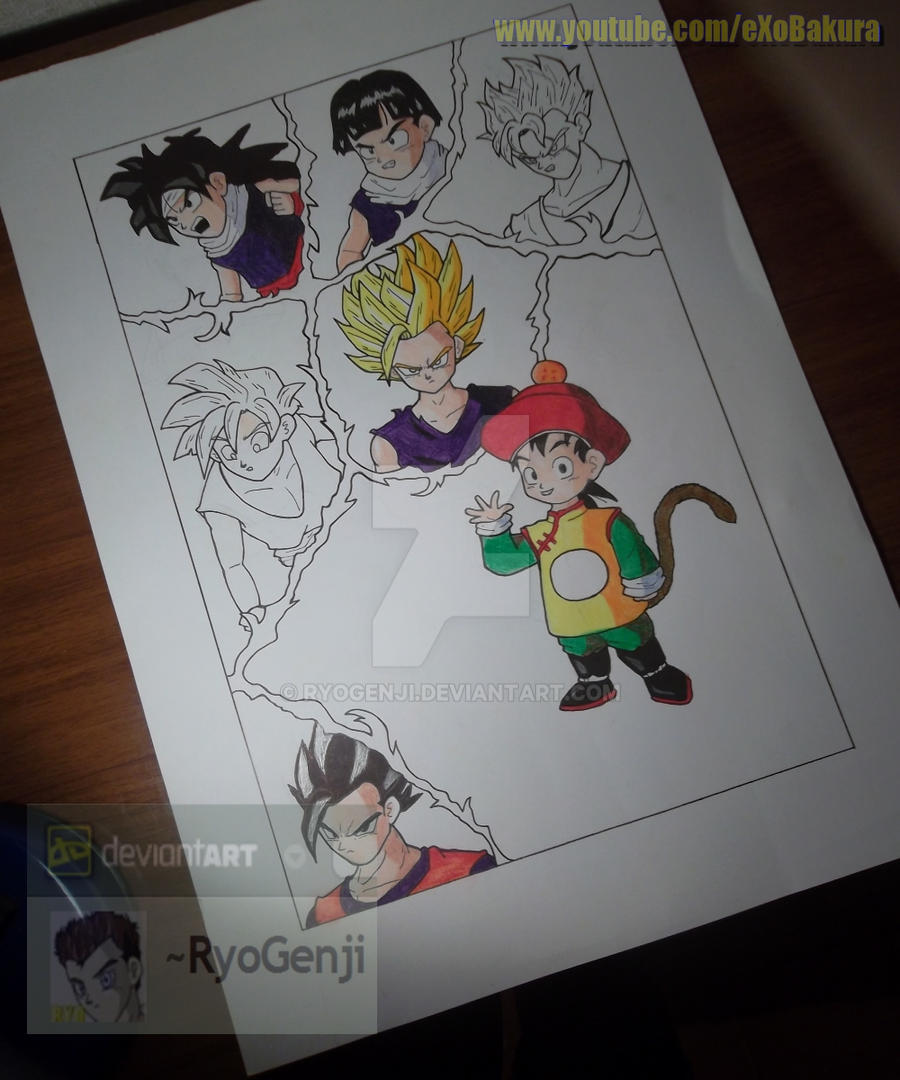 Abandoned/Unfinished drawings - Gohan's Poster by RyoGenji