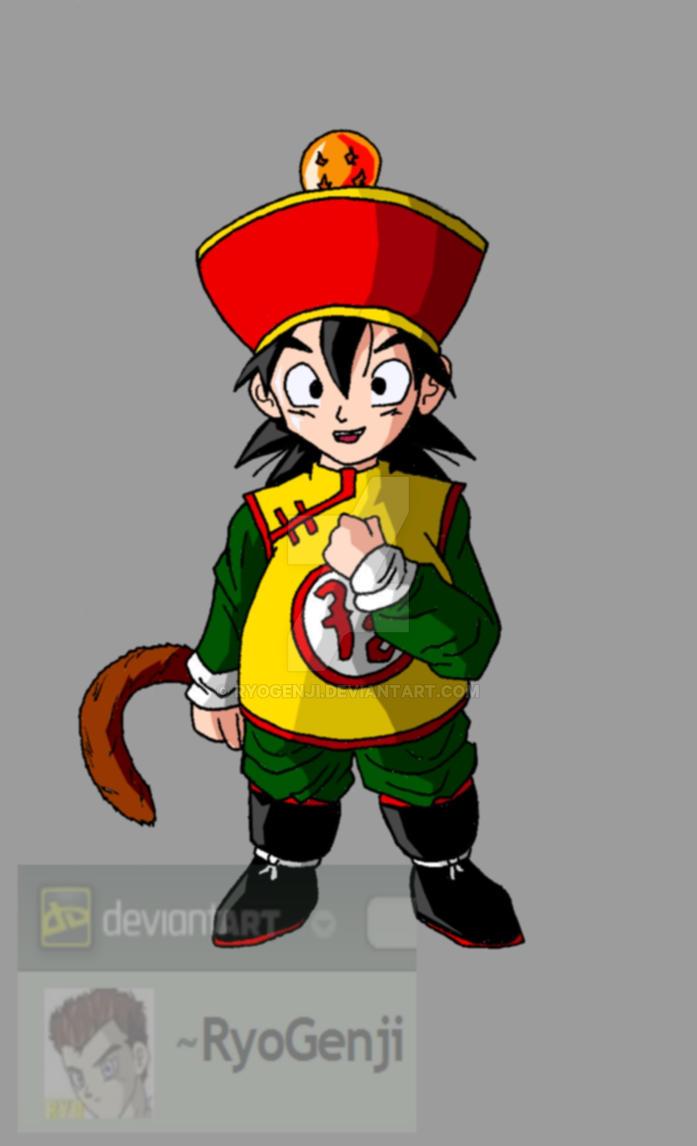 Kid Gohan (color) by RyoGenji