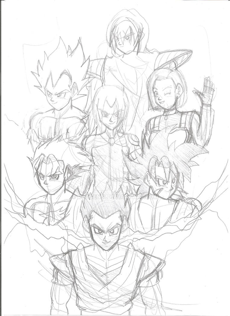 DBZ Ocs showcase 1 - WIP by RyoGenji