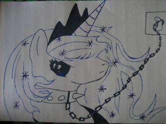 chianed princess luna by whitelion54