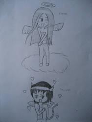 elena and damon by whitelion54