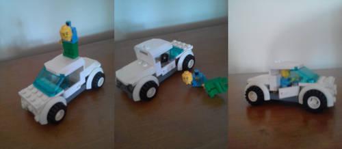 Automovil blanco lego by Master7X