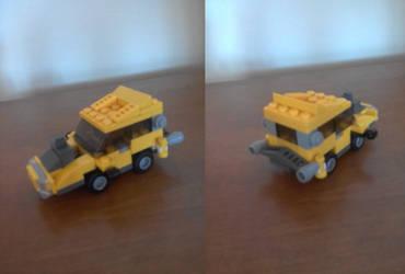 Mini automovil amarillo lego by Master7X