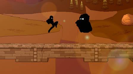 Captain Falcon vs King Dedede Silhouette by Master7X