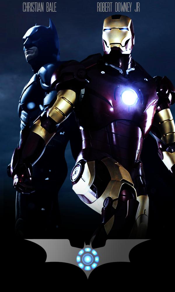 batman vs iron man movie poster by kidsleykreations on