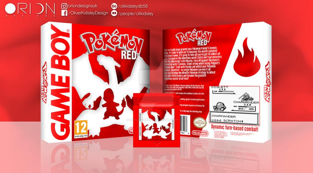 Pokemon Red Box Art by KidsleyKreations