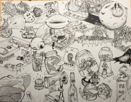 Doodle Page of SeerLight's Inktober 2018 Prompts
