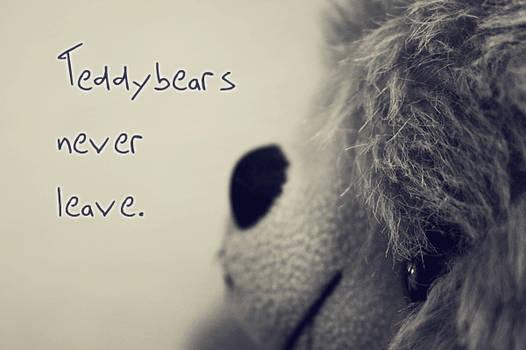 Teddybears never leave